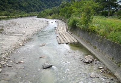 寒河江川 上島橋から見た下流