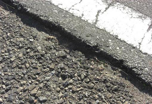 路面の段差