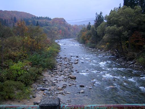 根子川橋上流の様子