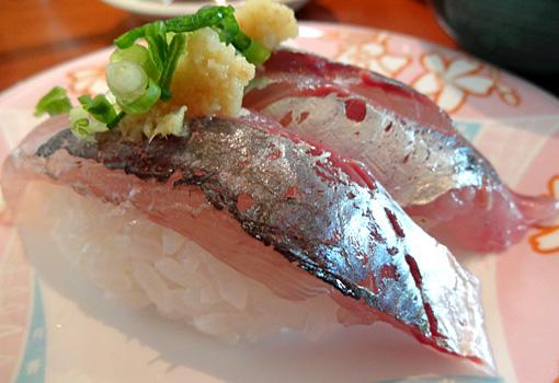 岩船沖アジのにぎり寿司