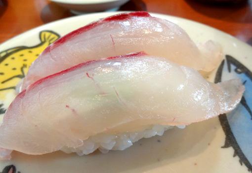 佐渡沖真鯛のにぎり寿司