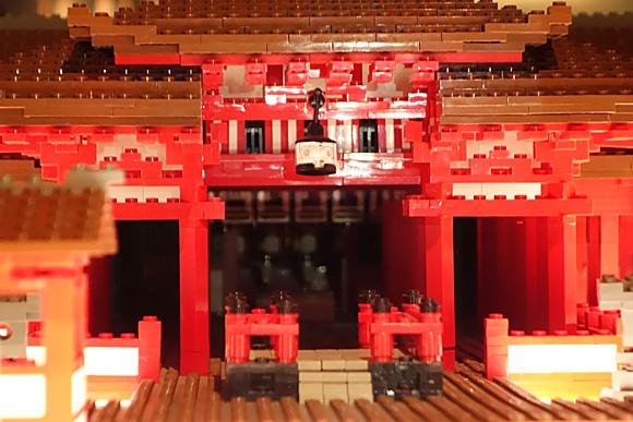 神殿の中も レゴで再現