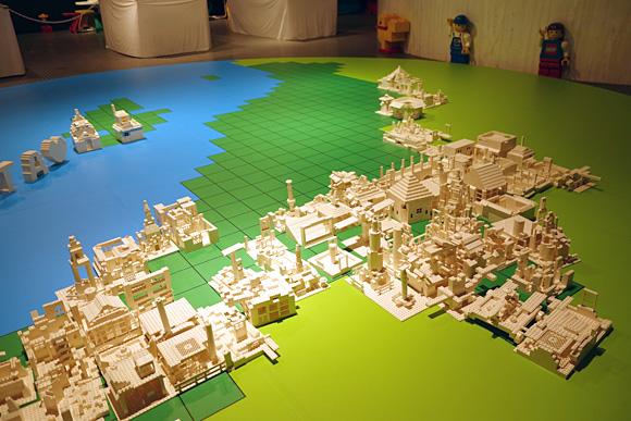 作ったレゴの展示スペース