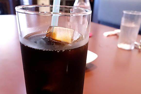 ランチセットのアイスコーヒー