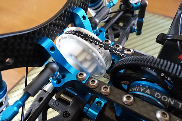タミヤツーリングカーTRF417Xのデフギヤ