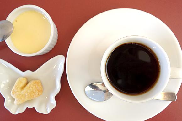 ランチセットのデザートとコーヒー