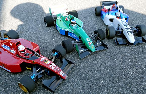 新潟聖籠「トップスピード」RC F1レース第9選のトップ3車両